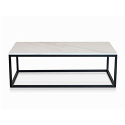 Byron White Faux Marble Coffee Table