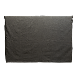 Noosa Charcoal King Bed Head Cover