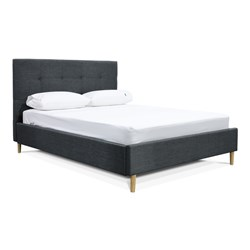 Talia Charcoal Double Bed
