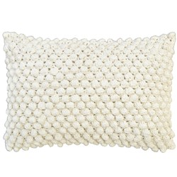 Puff White Cushion