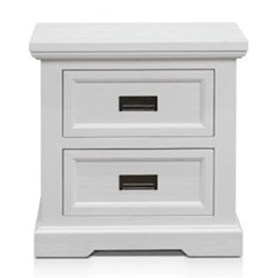 Aspen Brushed White Bedside