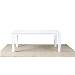 Aspen 1600 Brushed White Dining Table