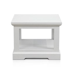 Aspen Brushed White Lamp Table