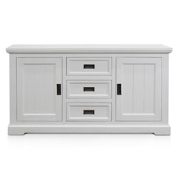 Aspen Brushed White 3Dwr Sideboard